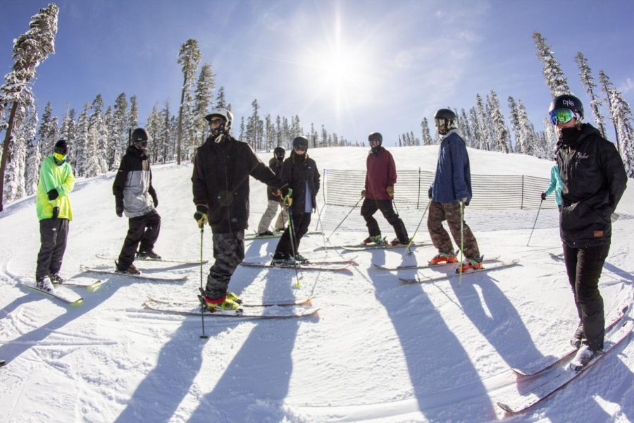 SNC's freeski team has eight athletes on the roster headed into the 2019-2020 season. In years past, the team (2016 team shown above) has had more than a dozen members. | Photo credit: Dylan Jerz
