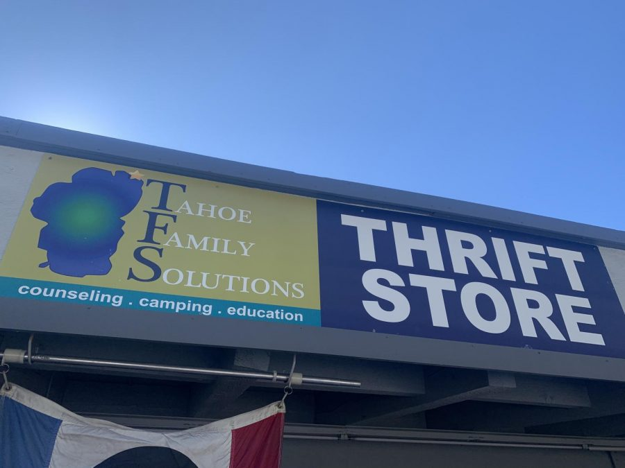 North Lake Tahoe local thrift store Tahoe Family Solutions.