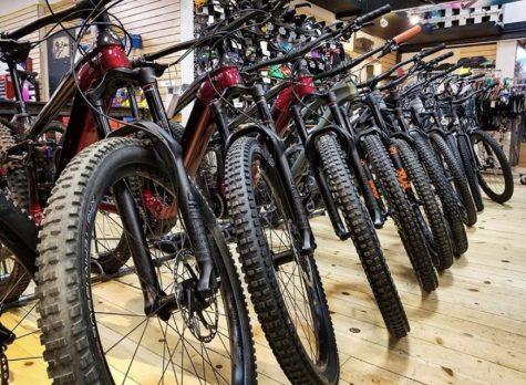 Bikes are ready for their future owners at Tahoe Sports Hub.