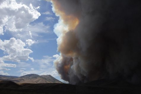 A fire near Loyalton, California is one of many that indicate a warm, dry fire season in the western U.S.